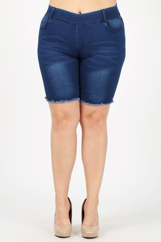 Plus Size Pull-on Super Stretch Bermudas shorts