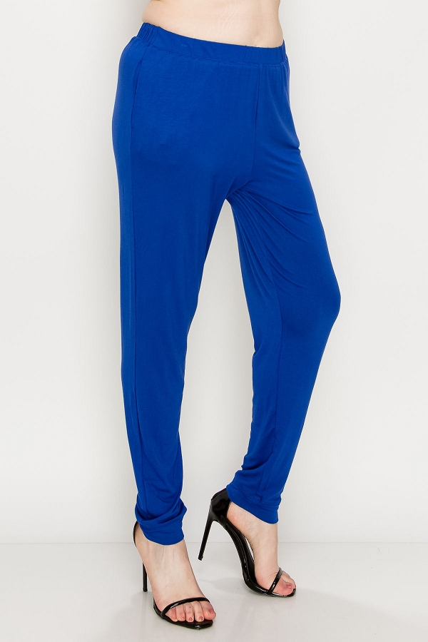 Plus size High Waist solid colored loose fit jogger pants