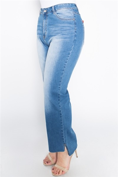 Plus Size High Waist Washed Stretch Skinny Jeans